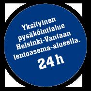 Yksityinen pysäköintialue Helsinki-Vantaan lentoasema-aluleella