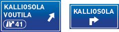 Opastekyltti: KALLIOSOLA/VOUTILA - KALLIOSOLA